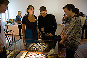 TRACEY EMIN; KENNY GOSS; JULIA ROWSE Julia, Mark and Francesca host a party for Tracey Emin and her new Travelling chess set. RS&A Ltd. 50b Buttesland St. Hoffman Sq. London N1. 12 October 2008 *** Local Caption *** -DO NOT ARCHIVE-© Copyright Photograph by Dafydd Jones. 248 Clapham Rd. London SW9 0PZ. Tel 0207 820 0771. www.dafjones.com.