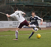 Dundee&rsquo;s Cammy Kerr and Hearts&rsquo; Jamie Walker - Dundee v Hearts - Ladbrokes Premiership at Dens Park <br />  - &copy; David Young - www.davidyoungphoto.co.uk - email: davidyoungphoto@gmail.com