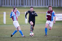 Edusport Academy Charef Haifi. <br /> Whitehill Welfare 2 v 1 Edusport Academy, South Challenge Cup Quarter Final played 7/3/2015 at Ferguson Park, Carnethie Street, Rosewell.
