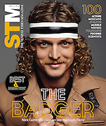 Cover of STM featuring Western Force player Nick Cummins. Sunday Times Magazine. Best and Brightest. Edition 1st June 2014.