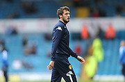 Leeds United midfielder Will Buckley (25) during the warm up before the Sky Bet Championship match between Leeds United and Brighton and Hove Albion at Elland Road, Leeds, England on 17 October 2015.