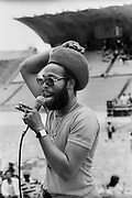 Big Youth at Sunsplash soundcheck Jamaica 1979