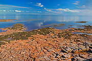 Rocky coastline along the Northumberland Strait