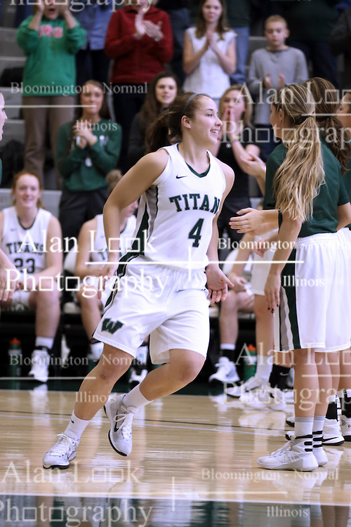 07 January 2017:  Rebekah Ehresman during an Wheaton Thunder and the Illinois Wesleyan Titans in Shirk Center, Bloomington IL