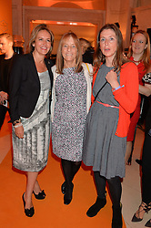 Left to right, CAROLINE MICHEL, LADY ROGERS and SIAN WYN OWEN at the Veuve Clicquot Business Woman Awards held at Claridge's, Brook Street, London on 11th May 2015.