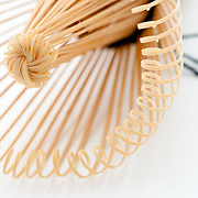 Bamboo swilrs of a japanese tea whisk