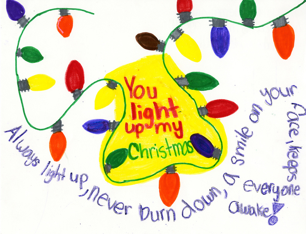 Holiday card designed by Angelica A. Silva of Browning Elementary School.