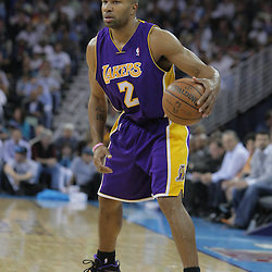 12 November 2008:  Los Angeles Lakers guard Derek Fisher (2) in action during a 93-86 win by the Los Angeles Lakers over the New Orleans Hornets at at the New Orleans Arena in New Orleans, LA..