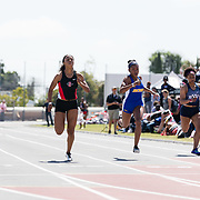 23 March 2018: Sakura Roberson competes in the 200 meter dash open event Friday afternoon at the 40th Annual Aztec Invitational.<br /> More game action at sdsuaztecphotos.com