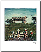 Couple with Bicycles 1979 11x14 signed archival pigment print free shipping USA.