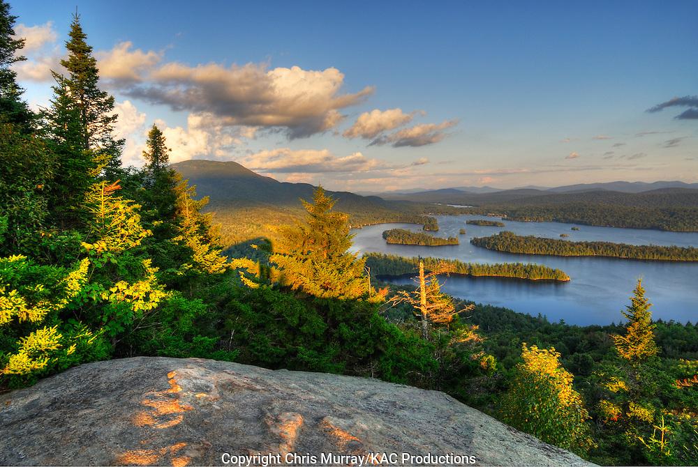Blue Mountain and Blue Mountain Lake, Adirondack Park, New York, USA
