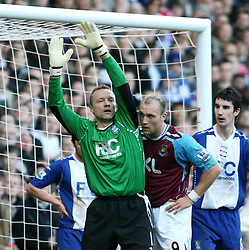 s Maik Taylor during the Premiership match at Upton Park. (Photo by Chris Ratcliffe/Propaganda)