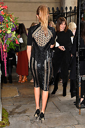 © Licensed to London News Pictures. 20/02/2016. MILLIE MACKINTOSH arrives at the JULIEN MACDONALD Autumn/Winter 2016 show. Models, buyers, celebrities and the stylish descend upon London Fashion Week for the Autumn/Winters 2016 clothes collection shows. London, UK. Photo credit: Ray Tang/LNP