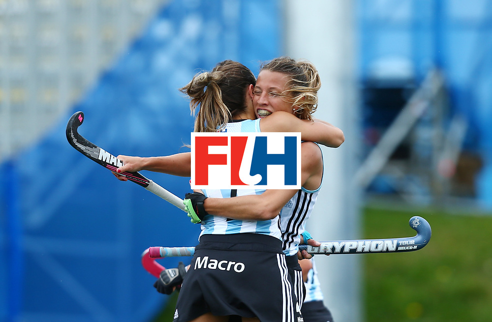 New Zealand, Auckland - 18/11/17  <br /> Sentinel Homes Women&rsquo;s Hockey World League Final<br /> Harbour Hockey Stadium<br /> Copyrigth: Worldsportpics, Rodrigo Jaramillo<br /> Match ID: 10294 - ARG vs CHN<br /> Photo: (7) CAVALLERO Martina celebraiting with (12) MERINO Delfina