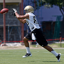 June 6, 2012; Metairie, LA, USA; New Orleans Saints rookie wide receiver Nick Toon (88) during a minicamp session at the team's practice facility. Mandatory Credit: Derick E. Hingle-US PRESSWIRE