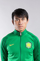 Portrait of Chinese soccer player Zhang Xiaobin of Beijing Sinobo Guoan F.C. for the 2017 Chinese Football Association Super League, in Benahavis, Marbella, Spain, 18 February 2017.