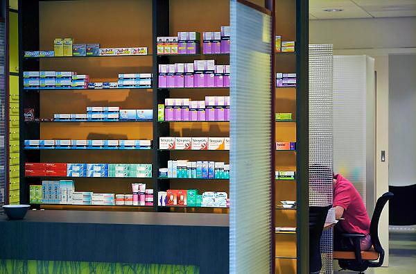 Nederland, Boxmeer, 22-4-2011Huisapotheek in het nieuwe, moderne Maasziekenhuis aan de A77. Foto: Flip Franssen