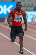 Hakeem Huggins (Saint Kitts and Nevis), 100m Men - Preliminary Round, during the 2019 IAAF World Athletics Championships at Khalifa International Stadium, Doha, Qatar on 27 September 2019.