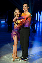 Dancing on Ice Photocall Sheffield Motorpoint Arena.Frankie Poultney and Comedy Dave Vitty..7 April 2011.Images © Paul David Drabble