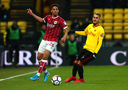 Zak Vyner of Bristol City passes the ball - Mandatory by-line: Robbie Stephenson/JMP - 06/01/2018 - FOOTBALL - Vicarage Road - Watford, England - Watford v Bristol City - Emirates FA Cup third round proper