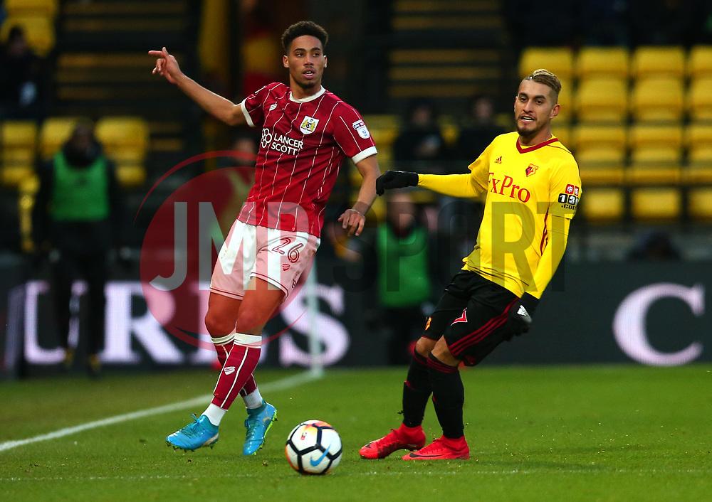 Zak Vyner of Bristol City passes the ball - Mandatory by-line: Robbie Stephenson/JMP - 06/01/2018 - FOOTBALL - Vicarage Road - Watford, England - Watford v Bristol City - Emirates FA Cup third round proper