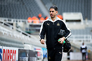 Newcastle United forward Ayoze Perez (#17) arrives at St James's Park ahead of the EFL Sky Bet Championship match between Newcastle United and Barnsley at St. James's Park, Newcastle, England on 7 May 2017. Photo by Craig Doyle.