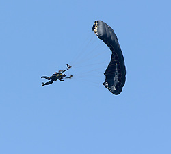 FORT LAUDERDALE, FL - MAY 04: SOCOM Para-Commandos performs in the Fort Lauderdale Air Show on May 4, 2019 in Fort Lauderdale, Florida...People:  SOCOM Para-Commandos. (Credit Image: © SMG via ZUMA Wire)