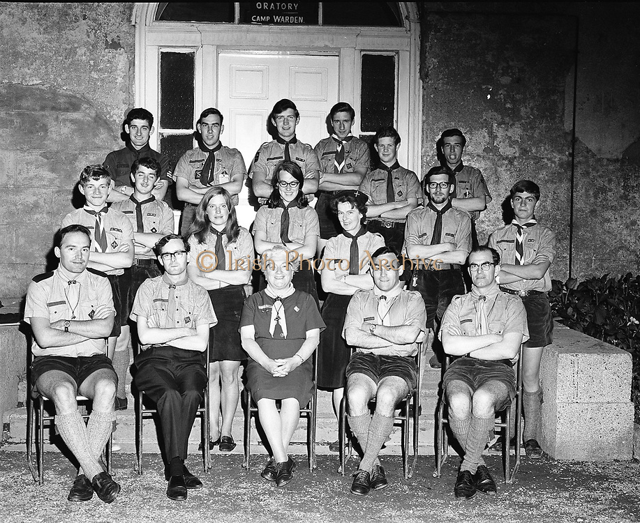 20th August 1968<br /> <br /> Catholic Boy Scouts of Ireland Training Course at Larch Hill, County Dublin.