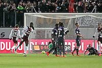 Goal Metz - Modibo MAIGA  - 04.04.2015 - Metz / Toulouse - 31eme journee de Ligue 1 <br />Photo : Fred Marvaux / Icon Sport