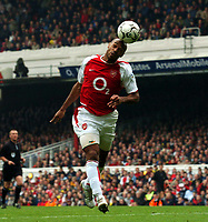 Picture: Henry Browne, Digitalsport<br /> NORWAY ONLY<br /> <br /> Date: 01/05/2004.<br /> Arsenal v Birmingham City FA Barclaycard Premiership.<br /> <br /> Thierry Henry of Arsenal tries to nod the ball past City keeper Ian Bennett.