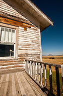Round Butte, deserted ranch house, outside Square Butte Montana