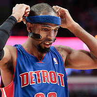 30 October 2010: Detroit Pistons Richard Hamilton is seen during the Chicago Bulls 101-91 victory over the Detroit Pistons at the United Center, in Chicago, Illinois, USA.