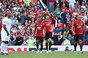 Manchester United 08 XI Michael Carrick celebrates after his goal during the Michael Carrick Testimonial Match between Manchester United 2008 XI and Michael Carrick All-Star XI at Old Trafford, Manchester, England on 4 June 2017. Photo by Phil Duncan.