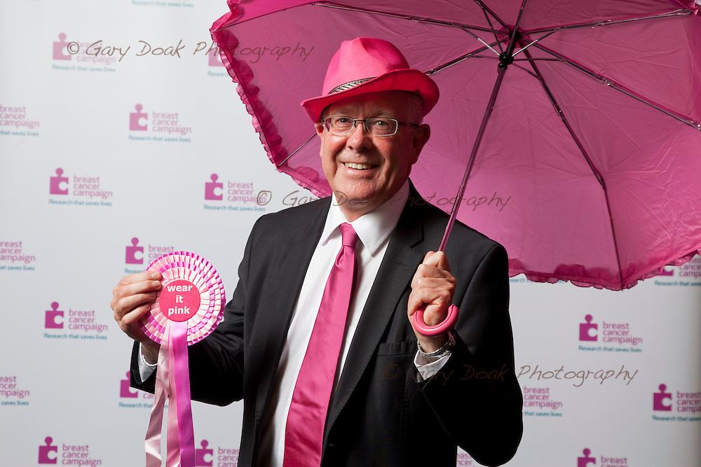 Breast Cancer Campaign. <br /> MSP's 'Wear it Pink!' at the Scottish Parliament, Holyrood, Edinburgh.<br /> <br /> Bruce Crawford, MSP.