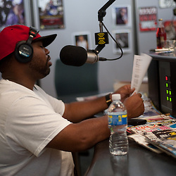 Raekwon voice tracks, then does an interview with Nina 9 for   Hip-Hop Nation at Sirius XM's Eckington studios.