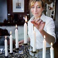 Nederland, Amsterdam , 23 juli 2014.<br /> Esther Voet, directeur van het CIDI<br /> Foto:Jean-Pierre Jans