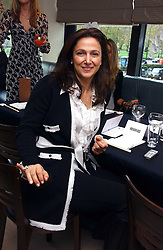MRS BOB MANOUKIAN at a lunch hosted by Fawaz Gruosi to celebrate the launch of De Grisogono's latest watch 'Be Eight' held at Nobu, 19 Old Park Lane, London W1 on 30th November 2006.<br />