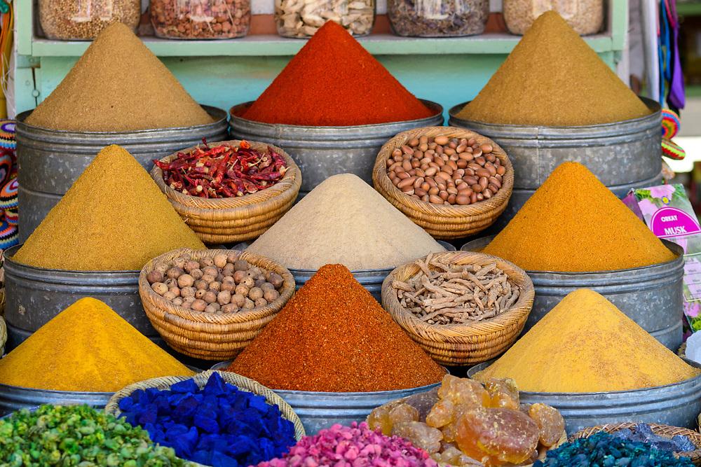 Africa, African, Northern Africa, Maghreb, Morocco, Marrakesh, Medina, Souk, Spice market