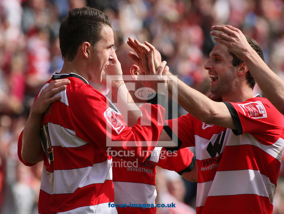 Doncaster - Saturday April 24th 2010: Jordan Mutch of Doncaster Rovers Celebrates after scoring a goal during the Coca Cola Championship Match between Doncaster Rovers & Scunthorpe United at The Keepmoat Stadium Doncaster. (Pic by Steven Price/Focus Images)..