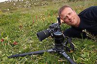 Photographer Peter Lilja in Spili, Crete