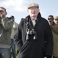 Francie Kenny watching the second race at the Killaloe point to point last Saturday.<br />