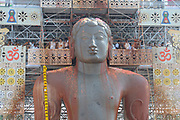 Mahamastakabhisheka festival - The anointment of the Bahubali Gommateshwara Statue located at Shravanabelagola in Karnataka, India. It is an important Jain festival held once in every 12 years.February 2018