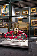 A prototype bicycle by Benjamin J. Bowden in the Luce Cengter for American Art Visible Storage Study Collection in the Brooklyn Museum. The bike was designed in1946, and this prototype built in 1960.