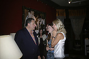 Jean Pigozzi and Svetlana Mesianinova, Party for Jean Pigozzi hosted by Ivor Braka to thank him for the loan exhibition 'Popular Painting' from Kinshasa'  at Tate Modern. Cadogan sq. London. 29 May 2007.  -DO NOT ARCHIVE-© Copyright Photograph by Dafydd Jones. 248 Clapham Rd. London SW9 0PZ. Tel 0207 820 0771. www.dafjones.com.