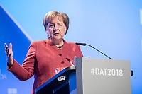 23 NOV 2018, BERLIN/GERMANY:<br /> Angela Merkel, CDU, Bundeskanzlerin, haelt eine Rede, Deutscher Arbeitgebertag 2018, Vereinigung Deutscher Arbeitgeber, BDA, Estrell Convention Center<br /> IMAGE: 20181123-01-232