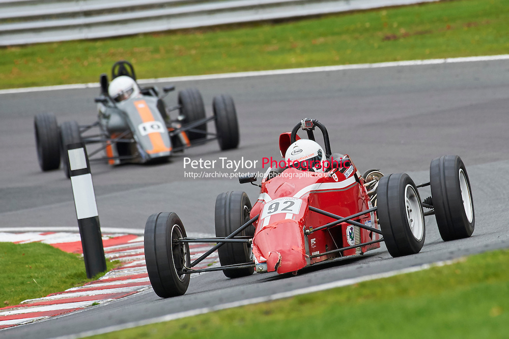 #92 Matthew Chisholm Van Diemen RF92 during Avon Tyres Formula Ford 1600 Northern Championship - Prost 89 Race 2 as part of the BRSCC Fun Cup Oulton Park 17th October 2015 at Oulton Park, Little Budworth, Cheshire, United Kingdom. October 17 2015. World Copyright Taylor/PSP. Copy of publication required for printed pictures.  Every used picture is fee-liable. http://archive.petertaylor-photographic.co.uk