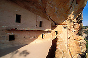 Windows and balcony at Balcony House Ruin, Mesa Verde National Park, Colorado USA