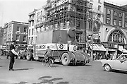 08/05/1965<br /> 05/08/1965<br /> 08 May 1965<br /> New Beamish and Crawford Boiler Arrives. A new 22 ton boiler for the Beamish and Crawford brewery arrived from Canada on Saturday at Dublin Port and was transported by road to the Cork brewery, where further extensions were planned. Picture shows the new Boiler passing O'Connell Bridge, Dublin en route to Cork.