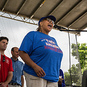 WASHINGTON, DC -JUNE4:  Council member Yvette Alexander (D-Ward 7) addresses her constituents during a community day in the Parkside neighborhood, June 4, 2016. Alexander is in the fight for her political life as her one time mentor and former Mayor Vincent Gray mounts a comeback, assailing her for poor constituent services, failure to respond to rising crime in the ward and bungling oversight of St. Elizabeths hospital and DC trust. (Photo by Evelyn Hockstein/For The Washington Post)