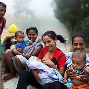 Mothers and kids are heading off after a Mother Support Group session where breast feeding mothers and babies learned about food supplements. The food workshop was run by the local charity Alola, based in Dili, Timor Leste. Infant mortality rates are very high in Timor-Leste and one of the reasons for that is poor nutrition.
